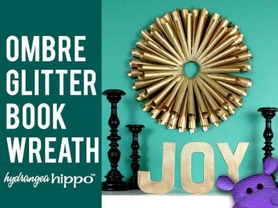 DIY Book Paper Cone Wreath with Kyrlon Spray Paint