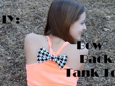 DIY: Bow back Tank top!