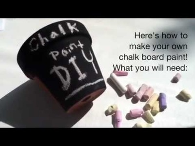 DIY Chalkboard Paint | Gift Ideas + Recipe