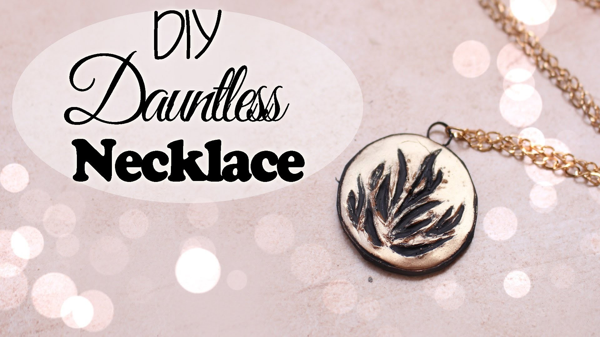 DIY Dauntless Necklace ● Polymer Clay Tutorial