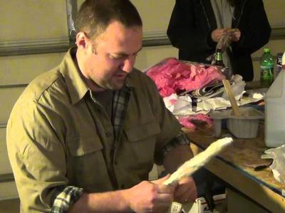 DIY Paper Mache Zombie Arms