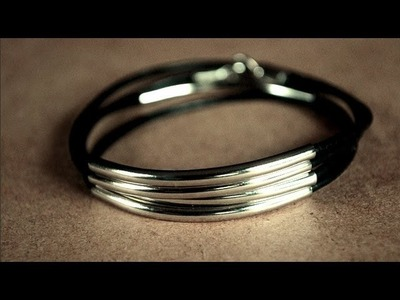 DIY Silver Tube Wrap Bracelet