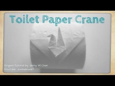 DIY Toilet Paper Origami Crane - Origami Fun - How to Fold Origami Crane From Toilet Paper Roll