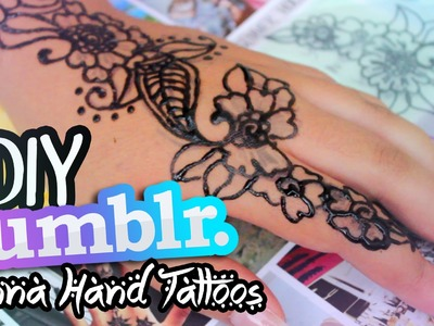 DIY TUMBLR Inspired Henna Hand Tattoos!