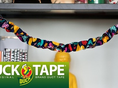 Duck Tape Crafts: How to Make Garland with LaurDIY