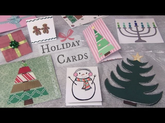 Easy Holiday Cards DIY. Christmas, Winter, & More - SoCraftastic