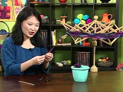 Eunny Jang's Quick Tip for Winding Ribbon Yarn, from Knitting Daily TV Episode 604