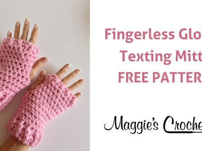 Fingerless Gloves Texting Mitts Free Crochet Pattern - Right Handed