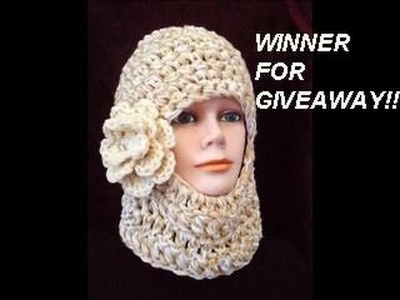 GIVEAWAY WINNERS!! SKI MASK CROCHET PATTERN