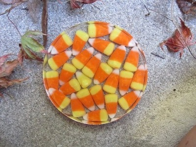 Halloween Candy Corn Coaster   Another Coaster Friday