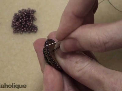 How to Bead Embroider a Basic Beaded Edge