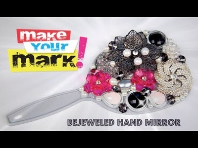How to: Bejeweled Hand Mirror DIY