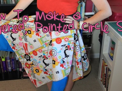How To Make a Layered, Angled Circle Skirt | DIY Tutorial