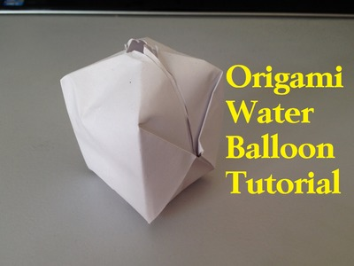 How to Make a Paper Balloon (Water Bomb) - Origami l JasmineStarler