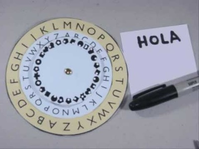 How to make a Super Secret Message Wheel - EP