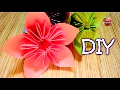 How to Make an Origami Flower for Kusudama (Flower Ball) - cone paper flower