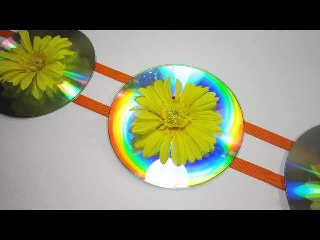 How to make room decorations with recycled cds - EP