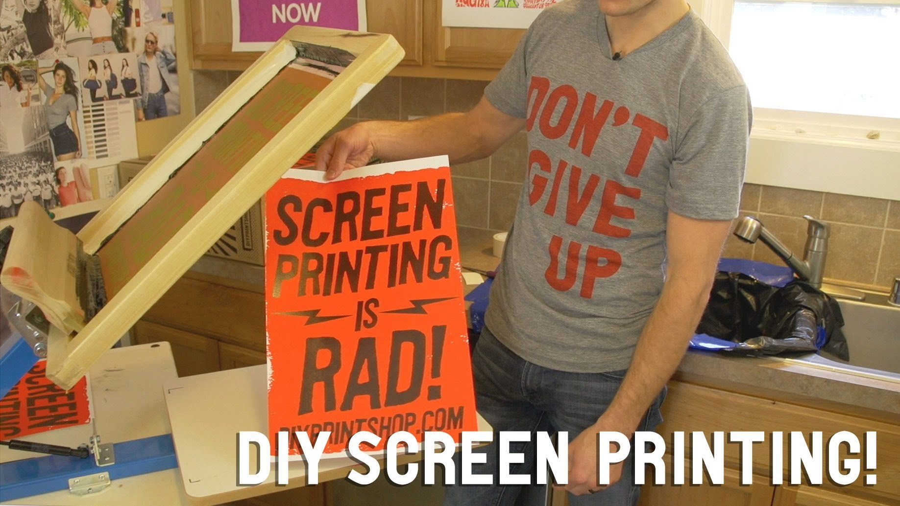 How to Screen Print: DIY Screen Printing at Home | FULL LENGTH DVD