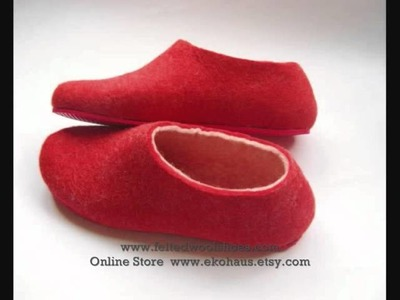 Innovative Felted Wool Shoes with Contrast Color Sole  2012