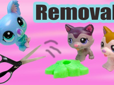 LPS DIY Removing Littlest Pet Shop Mcdonalds's Happy Meal Toys From Stands Tutorial