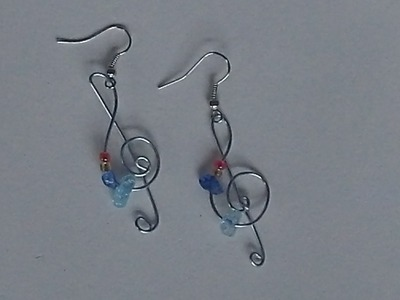 Make it! Musical Treble Clef Earrings - Great for Teacher Gifts!