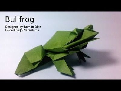 Origami Bullfrog (Román Díaz)