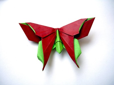 Origami butterfly . Easy to do. Ideas for romantic gift. Wall and table decoration