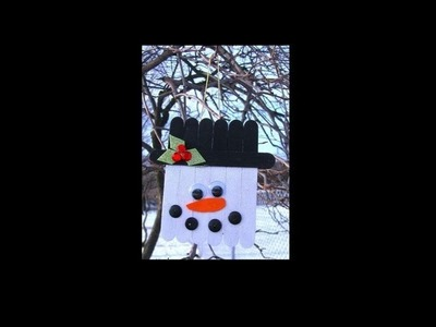 Popsicle Stick Snowman - DIY Christmas Decoration