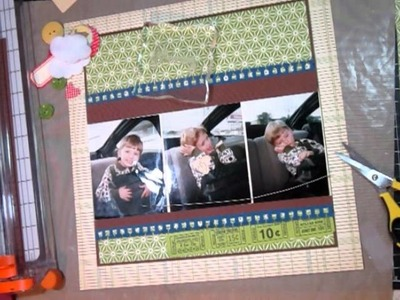 Scrapbooking Layout From Start to Finish - Process Video.Tutorial
