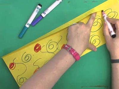 Second Grade Art- Japanese Paper Lantern Craft