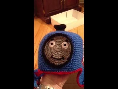 Thomas the engine crochet hat