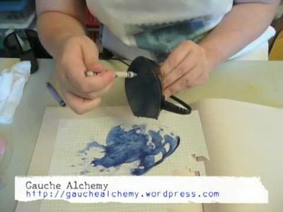 Tutorial: texturize with melted crayons!