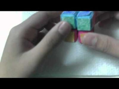 2x2 Origami Rubiks Cube! (Sonobe)