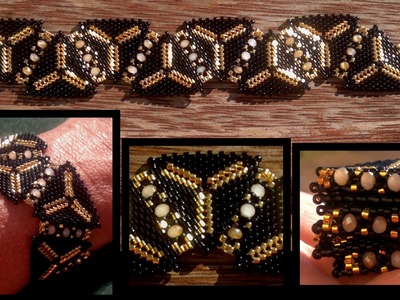 Beading4perfectionists : 1920's Art Deco Triangle beaded bracelet beading tutorial