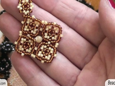 BeadsFriends: Beaded earring - Pendant earrings made using seed beads | Beaded Jewelry