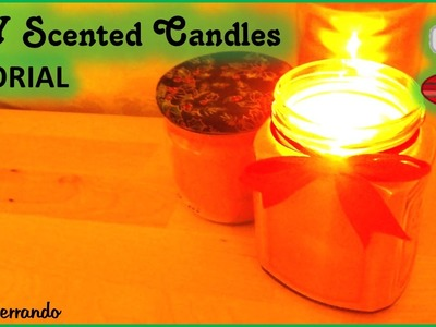 Christmas Advent Calendar: 8th Day - DIY Scented Candles Tutorial