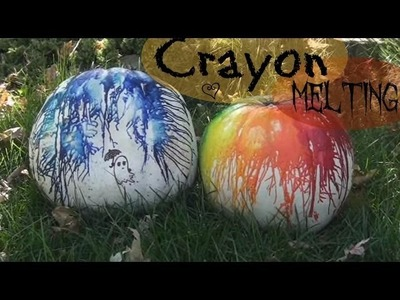 Crayon Melting Pumpkin!! How To. Fall into Crafts!