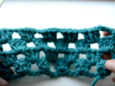 Crochet Lessons  - How to work straight rows based on the granny square - Part 4