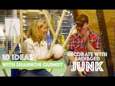 Decor from JUNK- 10 DIY Salvage Ideas from Shannon Quimby (HGTV, BHG)