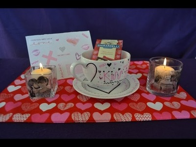 DIY Anniversary Gifts (Candle, Mug, & Card)