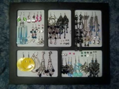 DIY Earring Holder.Organization