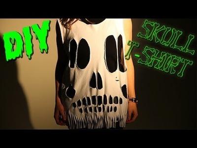 DIY Halloween Skull T-Shirt - Last Minute Costume!