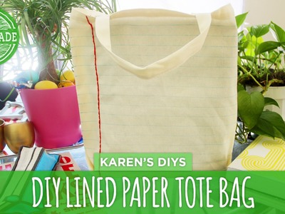 DIY Lined Paper Tote Bag - HGTV Handmade