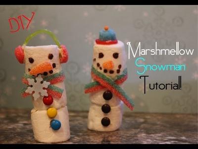 DIY Marshmallow Snowman Treat! (CRAFTMAS)