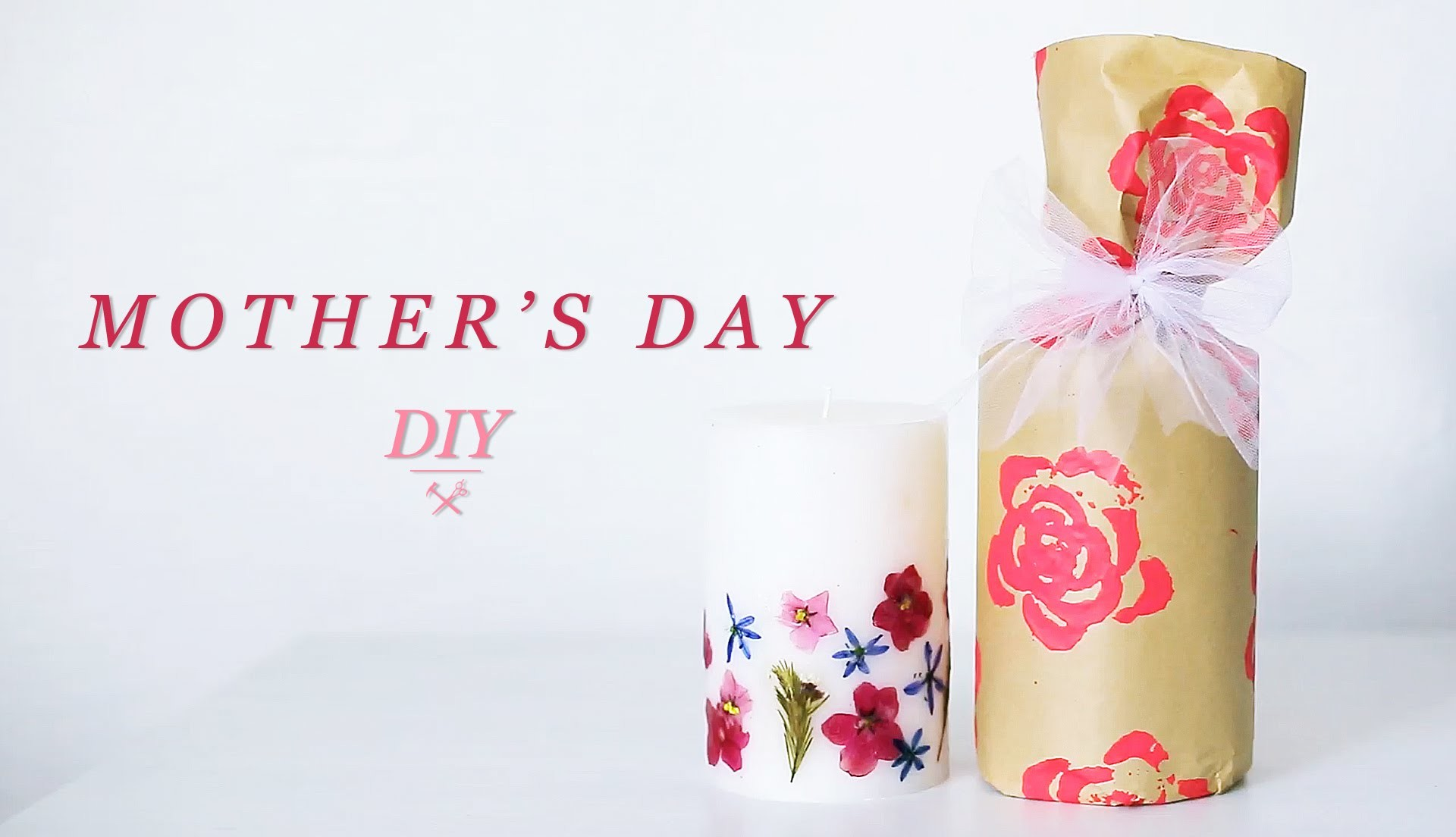 DIY MOTHER'S DAY GIFT | CANDLE & WRAPPING
