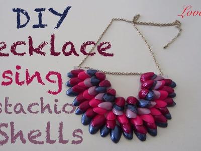 DIY Necklace Using Pistachio Shells (Easy Tutorial)