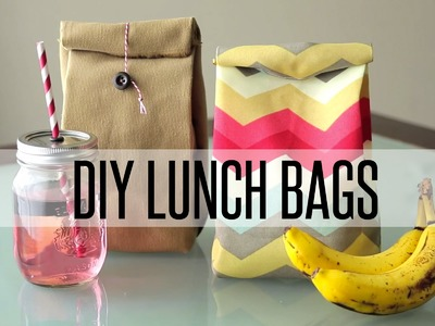 DIY REUSABLE LUNCH BAG. PAPER BAG