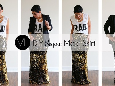 DIY Sequin Maxi Skirt Tutorial! w. Mimi G