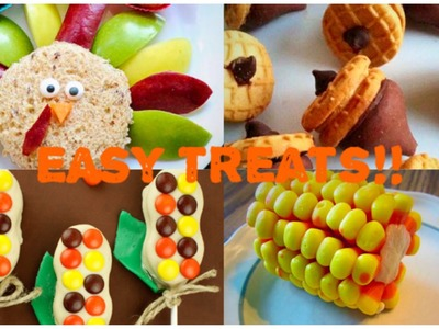 EASY DIY No Bake Thanksgiving Treat Ideas! (Great For Kids!)