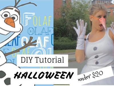 Halloween Olaf DIY Costume Under $20!